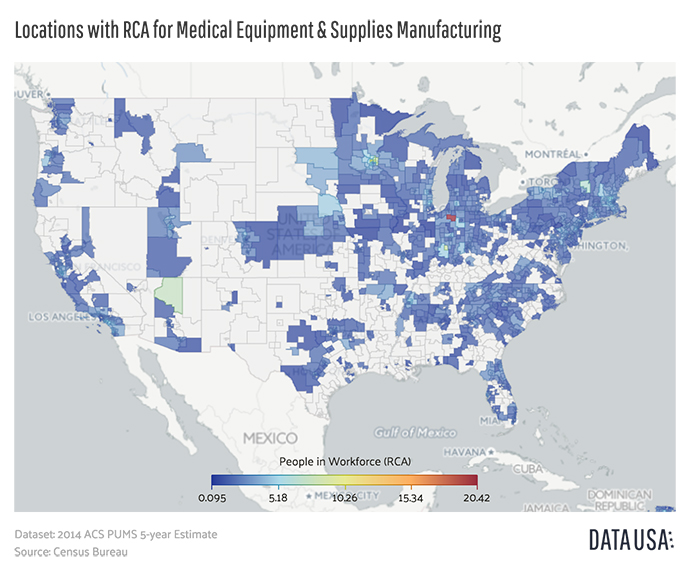 Medical Devices Clusters Mergers Site Selection Magazine - Us map of college and university clusters