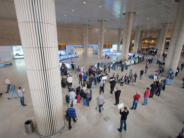 Ben Gurion International Airport in Tel Aviv was shut down for half a day by a nationwide protest of Teva's restructuring moves.