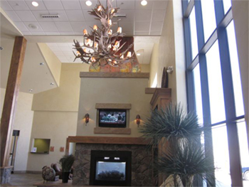 The West Star reception area in Grand Junction might convince pilots and aircraft owners they've arrived at a lodge.