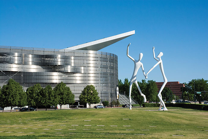 """The Dancers"" highlight the Denver Performing Arts Complex's Sculpture Park, a unique outdoor venue in the heart of the Denver Theatre District."