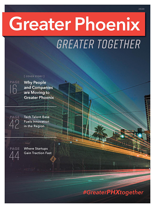 The GPEC Greater Phoenix, Greater Together 2020 publication for site selectors.
