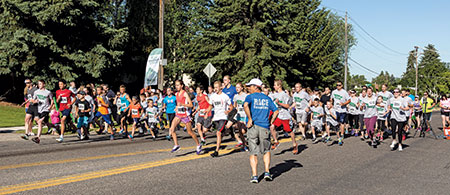 The Teton Dam Marathon is a multi-distance race, including a full marathon, a half marathon, a 10K, a 5K, and a children's race. The marathon starts at the Teton Dam Site and ends at Smith Park in Rexburg.