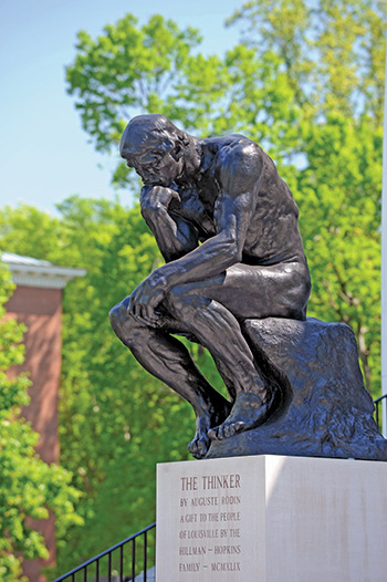 Rodin's The Thinker at the University of Louisville.