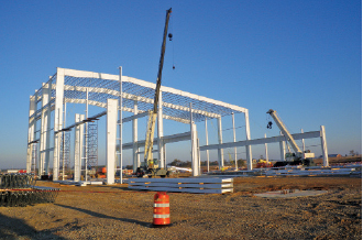 Construction is underway on the Constellium-UACJ 225,000-sq.-ft. aluminum auto body plant, located in Bowling Green's Kentucky Transpark intermodal center.