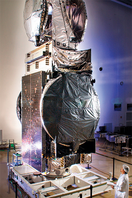 A Lockheed Martin commercial satellite at Stennis Space Center