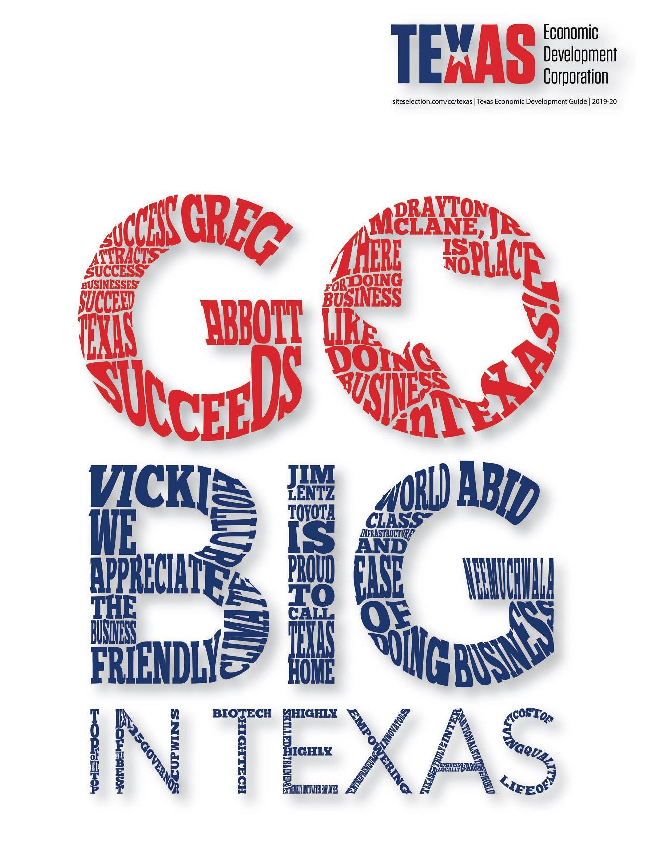 Go Big in Texas Economic Development Guide 2019