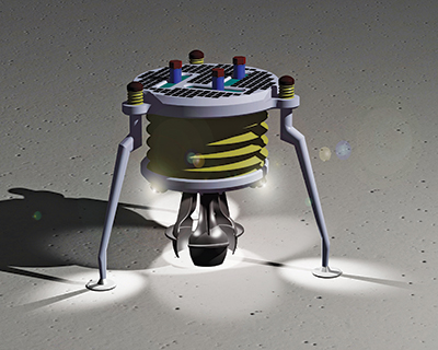 Square One Design created this concept for a large lunar excavation robot for NASA.<br />