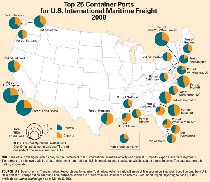 Reducing Ship Strike Risk To Whales List Of Ports In The United - Us ports map