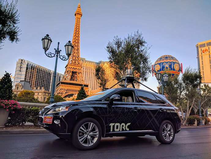 Torc's Asimov plied the streets of Las Vegas earlier this year.