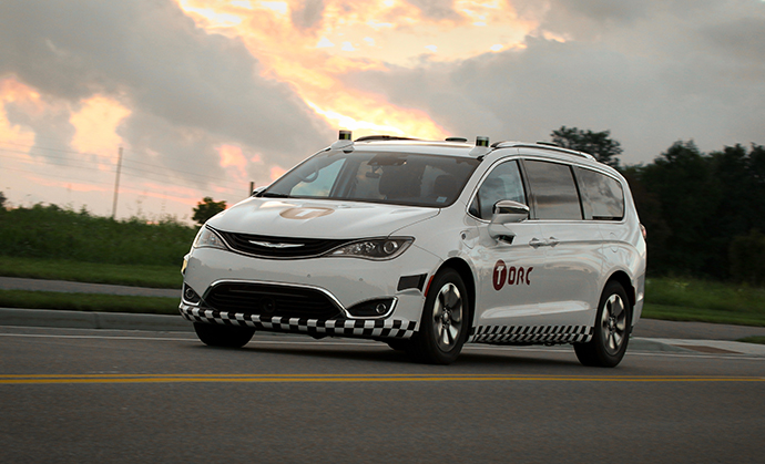 Torc announced in October that its sensors have been integrated with a 2017 Chrysler Pacifica Hybrid. The implementation includes LiDAR, radar, cameras and GPS antennas that provide 360-degree perception of the vehicle's surroundings.