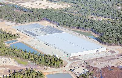 TBC, one of the largest marketers of automobile replacement tires and a subsidiary of Japan-based Sumitomo Corp., is nearing completion of a massive distribution center near Charleston, S.C.