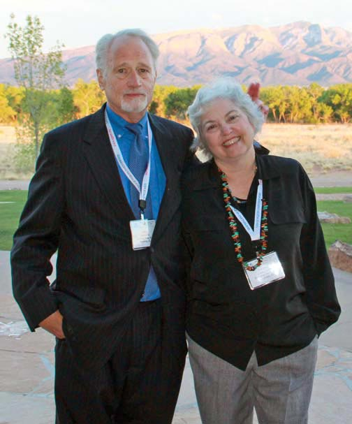 Jack and Laura Lyne share a playful moment at the Spring 2011 IAMC Professional Forum in Albuquerque, N.M.