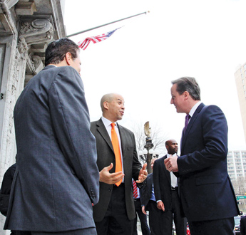 UK Prime Minister and Mayor Booker
