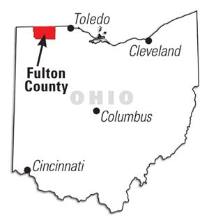 Fulton County, Ohio map