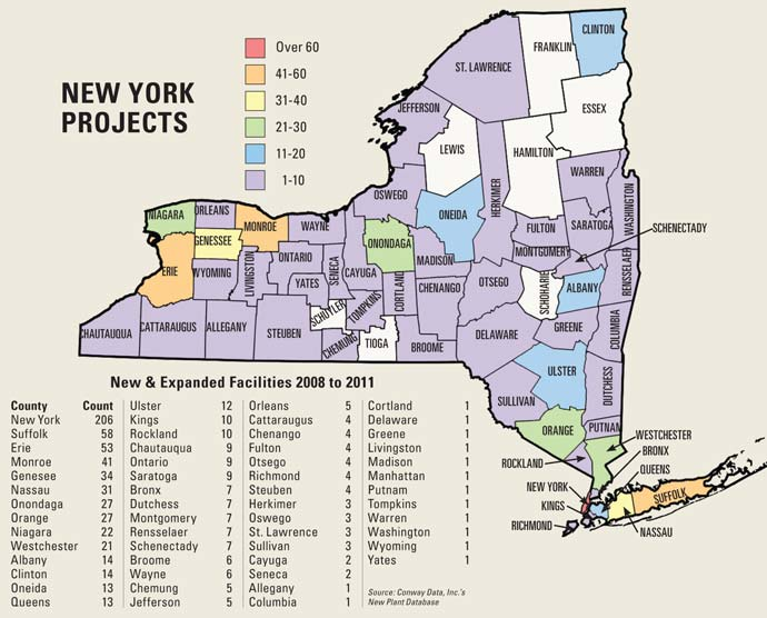 New York Project Map