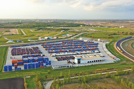 APL completed its new intermodal terminal in Joliet, Ill., in December 2011.