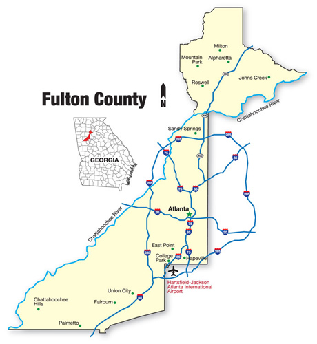 Fulton Cty GA Map