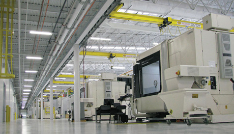 Rolls-Royce, whose Crosspointe plant's rotatives floor is shown here, is in the final planning stages for an expansion that will house an advanced blade machining facility.