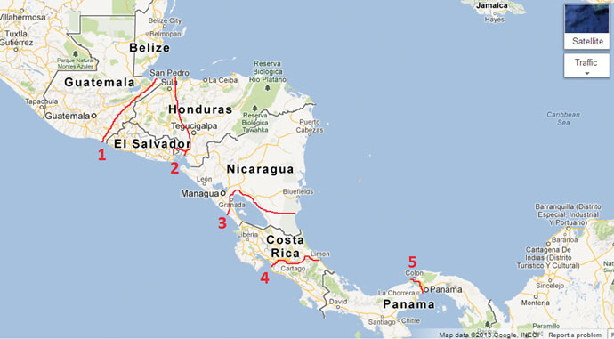 Central America The Great Dry Canal Race Site Selection Online - Map of costa rica central america