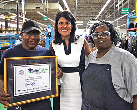 GovHaley_ColletonCnty_event