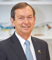 "Luiz Fernando Fuchs, president of Embraer Aviation Europe, calls the company's manufacturing plants making composite and aluminum components in Évora (pictured) ""unique within our global operations"" due to their state-of-the-art technology and talent."