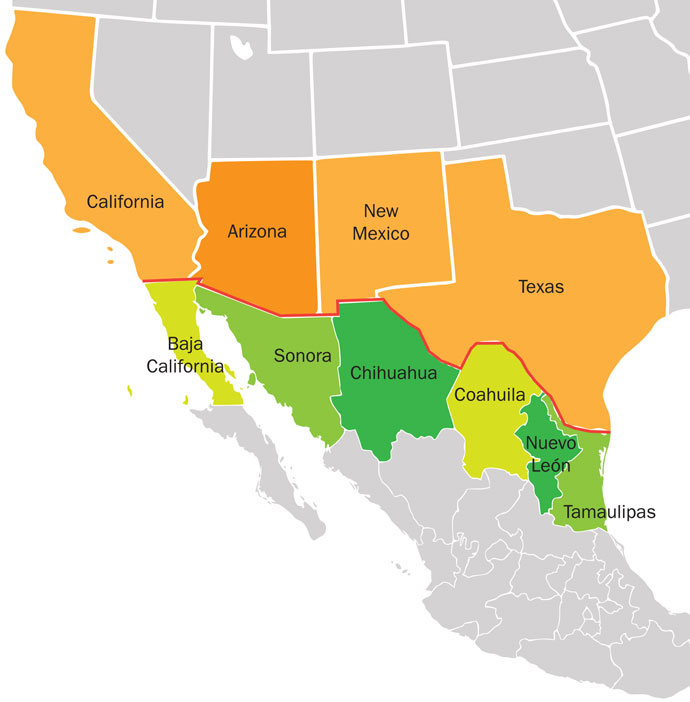 Us Mexico Border Corridor The Us Mexico Border Economy In