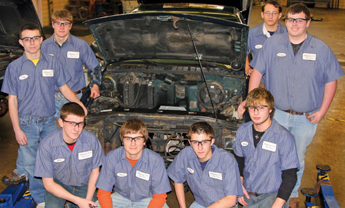 Students at the Millstream Career & Technology Center in Findlay, Ohio, receive training that prepares them for jobs in the automotive sector and other trades.