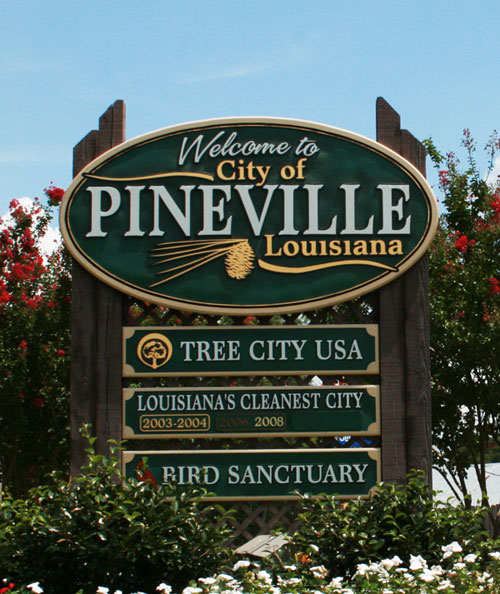Welcome To Pineville Sign