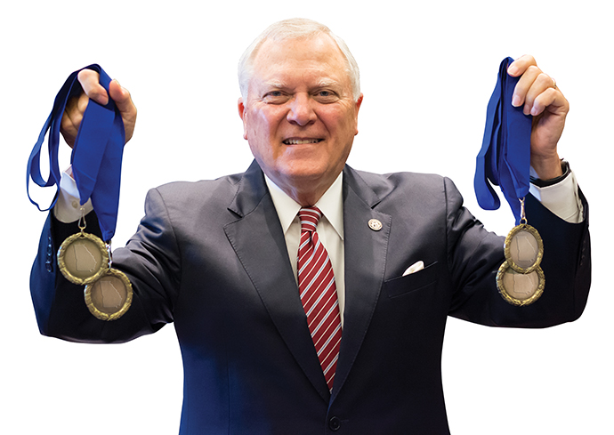 Gov. Deal with medals