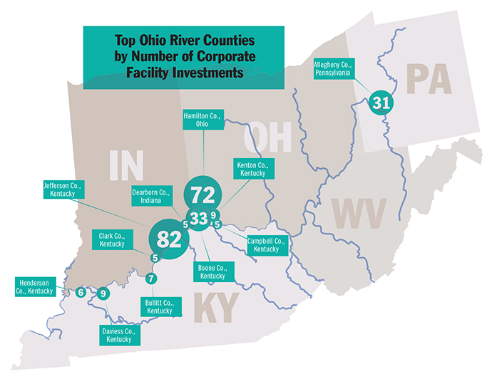 Ohio River Counties Project Map