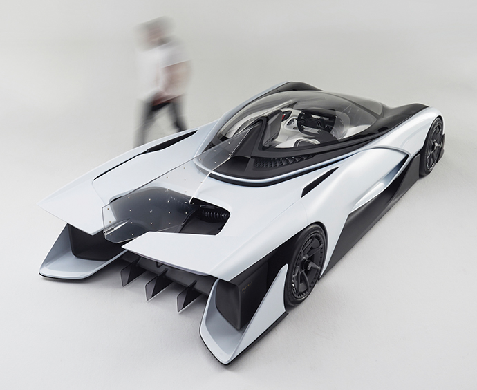 Nevada Faraday Future Launched Its Ffzero1 Concept Car