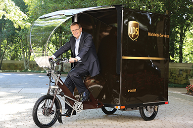 UPS E-Bike David Abney