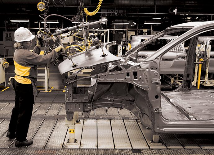 Workers At The Toyota Motor Manufacturing Indiana Plant In Princeton  Assemble The Highlander SUV. A New Investment Into This Plant Will Sharply  Increase ...