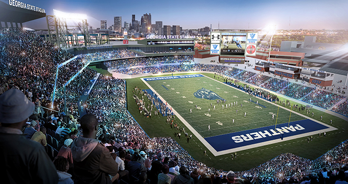 Portions of the former Turner Field property are already being redeveloped into a mixed-use neighborhood that includes football and baseball fields for downtown Atlanta's growing Georgia State University.