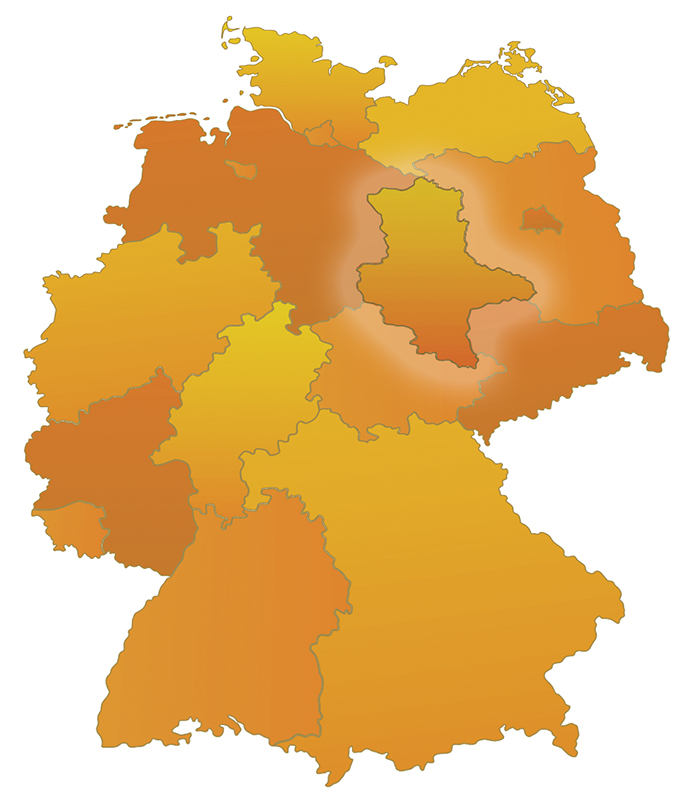 SaxonyAnhalt Germany A Young German State Sets Out To Solve Old - Germany map federal states