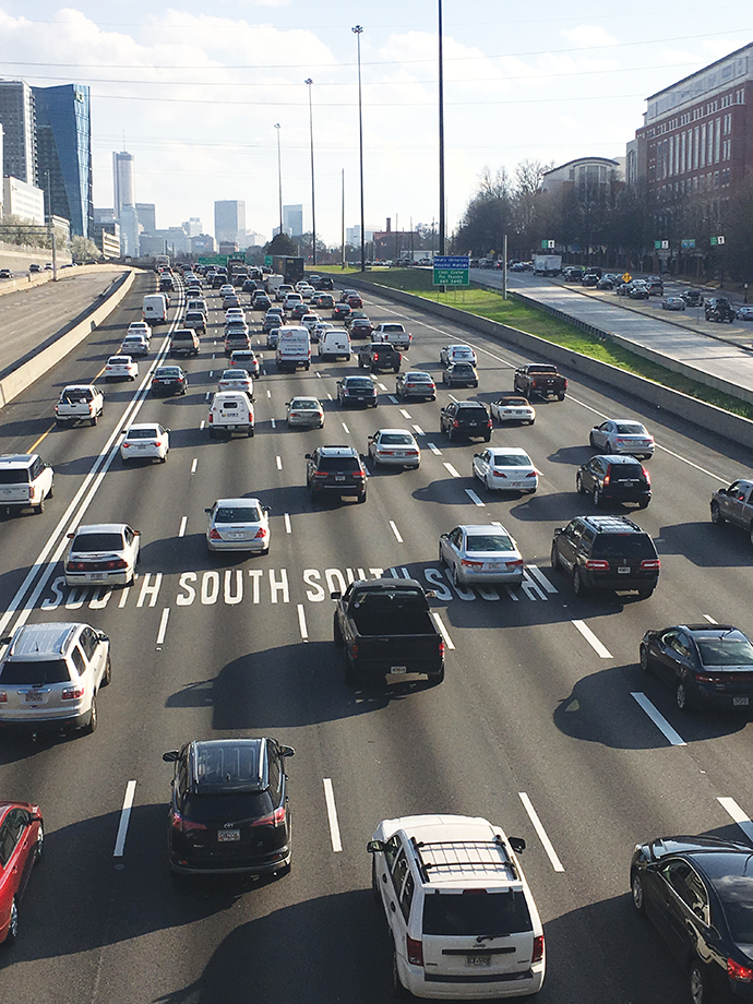 """Achilles Heel"": Atlanta rates as the country's fourth-most congested city in a recent study by INRIX."