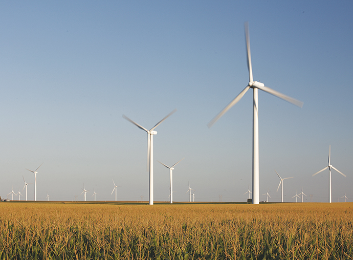 Wind energy is a staple in Iowa, which is a national leader in wind energy generation.