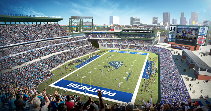 Georgia State Football Day Rendering Fall 2016