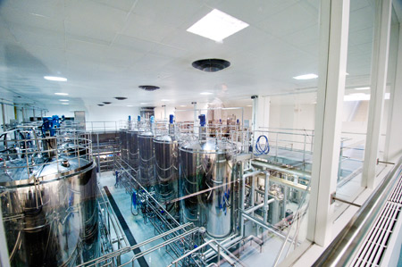 Japanese firm Yakult operates this probiotic drink production facility in Almere.