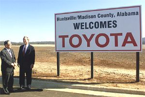 Toyota Huntsville Al >> Yet Another Toyota Assembly Plant Mid South Sites Reportedly Early