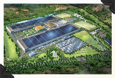 One of the many factors influencing LCOE is cost of production. SunPower Corp. hopes to reduce that cost to $0.55 per watt by 2014, in part by putting to work its 1.4-gigawatt third solar cell fabrication facility, a JV with AU Optronics in Malaysia. Development of the facility (rendering above) is being aided by a major loan from the Malaysian government … yet another important variable in cost prediction scenarios.