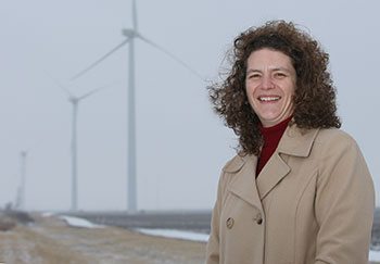 Linda Prokopy's research sheds light on why some communities in Indiana are welcoming of wind turbines while others have rejected them.