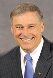 Washington Gov. Jay Inslee is a leading proponent of the clean energy economy.