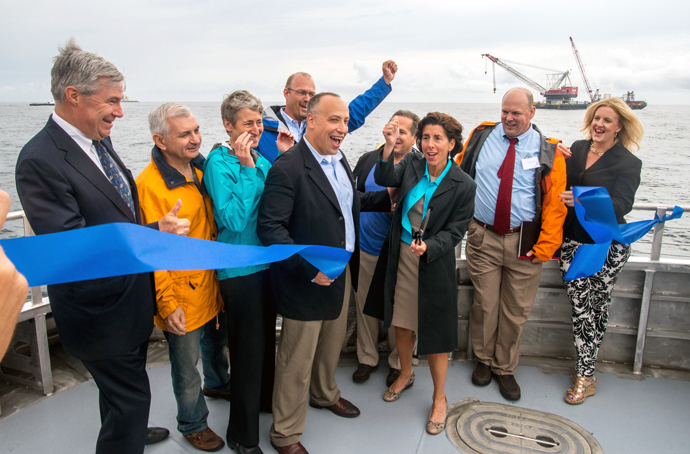 Block Island Ribbon Cutting